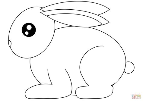 small rabbit coloring page  printable coloring pages