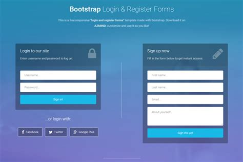 bootstrap login form template free bootstrap login and register forms in one page 3 free