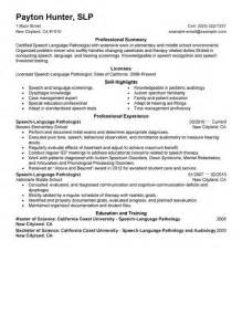 speech language pathologist resume examples healthcare resume