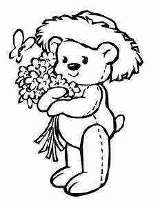 Flower And Butterfly Coloring Pages - Flower Coloring Page