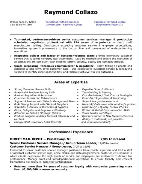 Customer Service Manager Resume Pdf by Customer Service Manager Cv Thevictorianparlor Co
