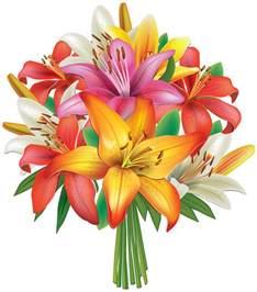 Lily Flower Bouquet Clip Art