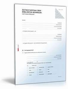 Kündigungsschreiben Wohnung Mieter : befristeter mietvertrag m blierte wohnung vorlage zum ~ Lizthompson.info Haus und Dekorationen