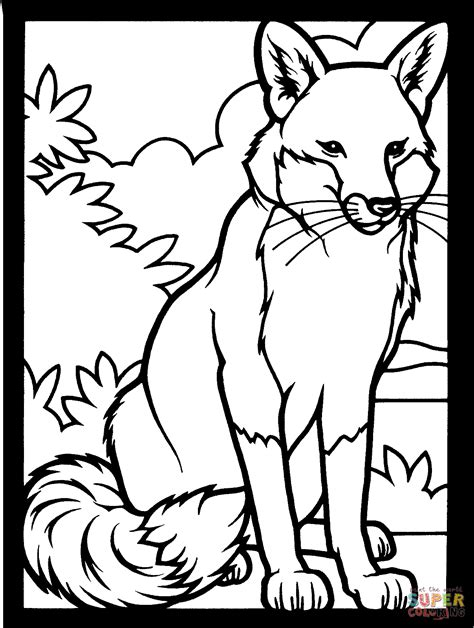 click  red fox coloring pages  view printable version  color   compatible