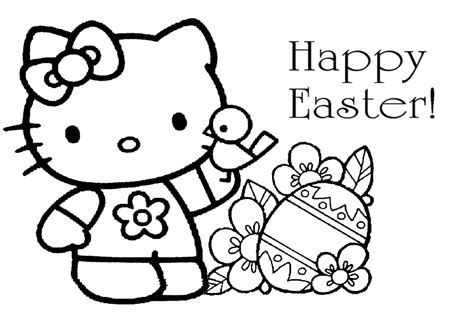Easter Color Sheets Coloring Pages Hello Kitty