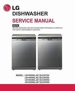 Lg Ld1454tfes2 Dishwasher Service Manual And