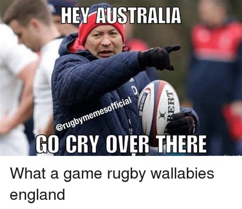 Rugby Memes - hey australia go cry over there what a game rugby wallabies england crying meme on sizzle