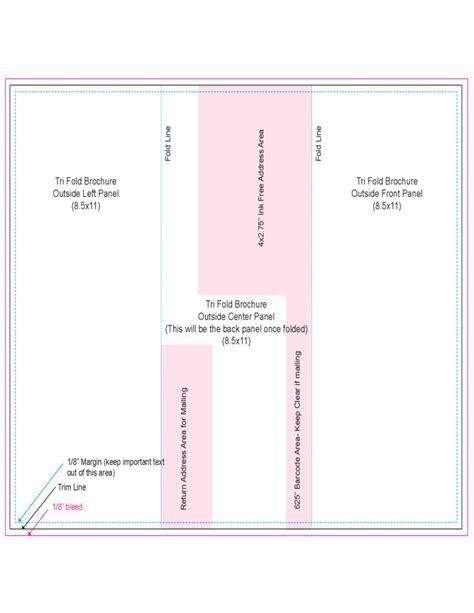 tri fold  centre panel template