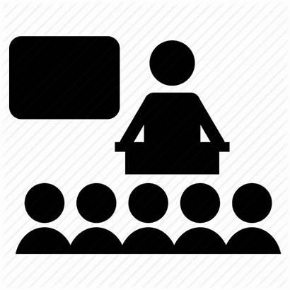 Icon Classroom Students Teacher Class College Education