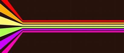 Rainbow Lines Horizontal Wallpapers Background Dark Perfect
