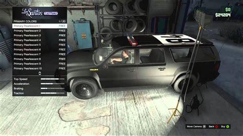 Gta V- Customizing Police Vehicle In Gta5 Online!