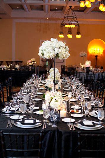 decoration table mariage noir blanc