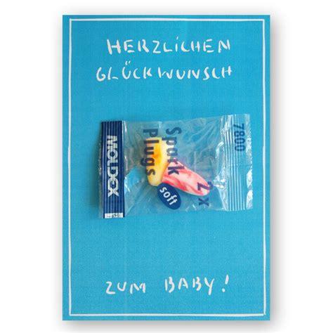 Geschenkwichtel  Glückwunschkarte Zur Geburt Mit Ohrstöpseln
