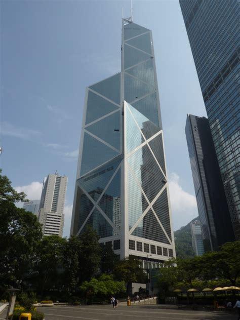 bank  china tower skyscraper  hong kong thousand wonders