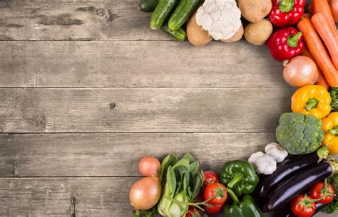 vegetables  wood background stock photo  primopiano
