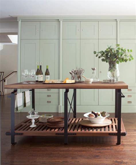 freestanding industrial kitchen island transitional