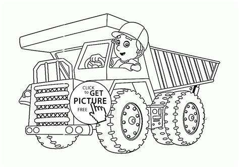 big trucks coloring pages large tow semi truck