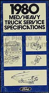 1980 Ford Truck Service Specifications Manual F600 F700