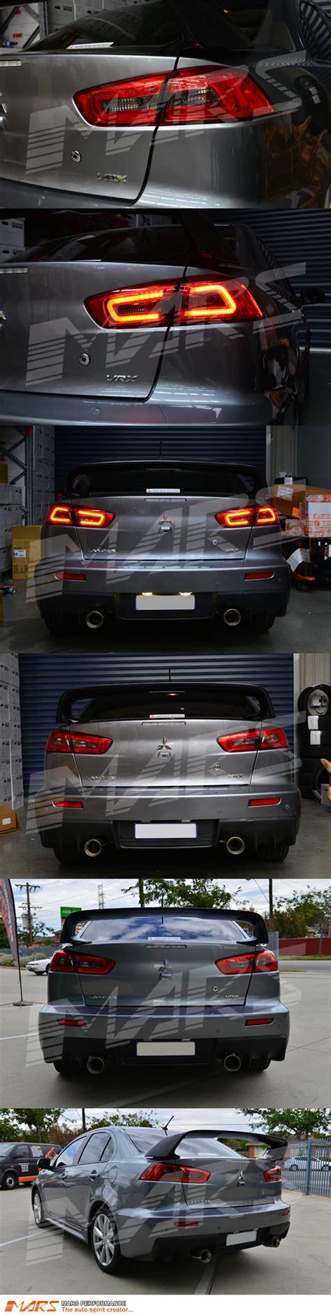 evo x tail lights jdm varis smoked red 3d led tail lights for mitsubishi