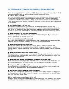 Personal Statement Question 50 Common Interview Questions And Answers
