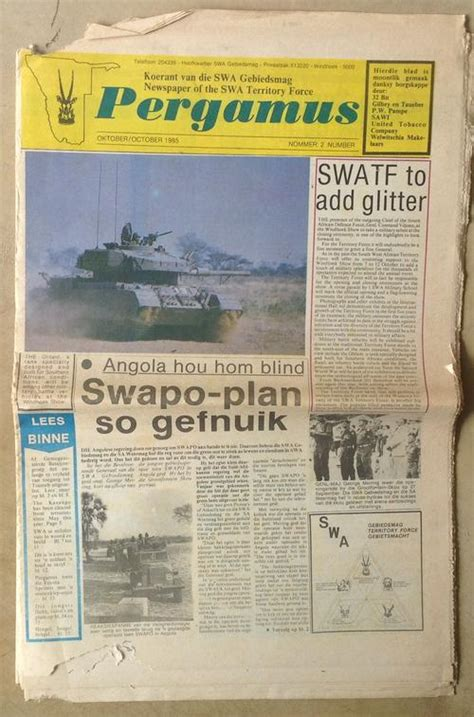 Magazines South West Africa Pergamus Newspaper Oct 1985