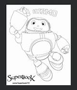 Superbook Colouring Gizmo Competition Dvd Coloring Noah Vision Sketch sketch template