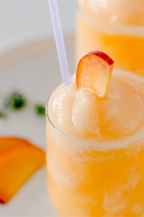 frozen peach bellini cocktail recipe eatwell