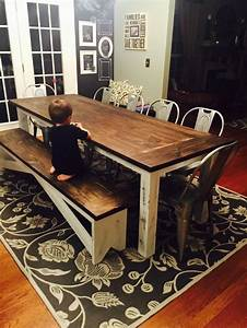 839 Custom Chalk Paint Base Table With 739 Slide Under Bench