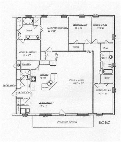 floor plans barndominium barndominium metal buildings and building plans on pinterest