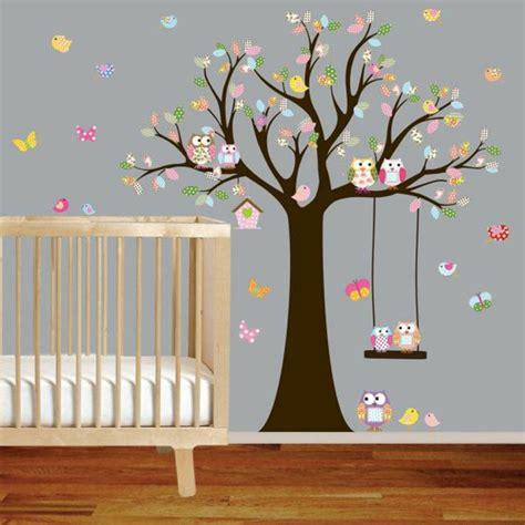 sticker chambre bebe sticker chambre garcon arbre de hibou animaux de bande