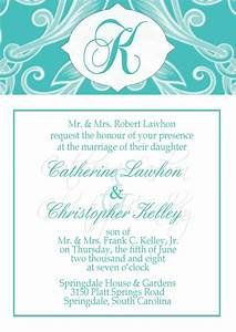 free printable wedding invitations wedding invitation With free wedding announcement templates for word