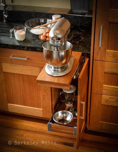kitchen cabinet mixer lift mixer storage contemporary kitchen