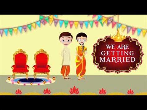 animated wedding invitation  whatsapp youtube