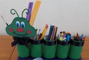Organizador de lápices gusano Manualidades para niños