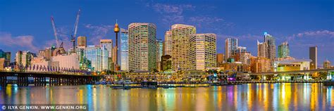 darling harbour panorama  dusk sydney  south wales