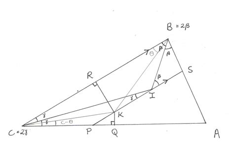 Math Geometry Diagram by Geometry Problem On The Incentre And Circumcenter Of A