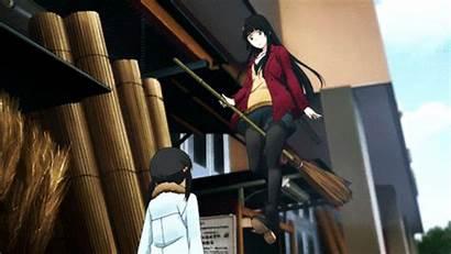 Witch Flying Anime Spring Hotties Makoto Kowata