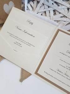 rustic kraft pocket card wedding invitation ideal for a With rustic pocketfold wedding invitations uk