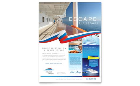 travel template video editing cruise travel flyer template word publisher