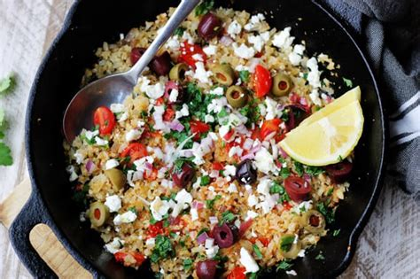 Cauliflower Fried Rice Mediterranean Style  Innocent Delight
