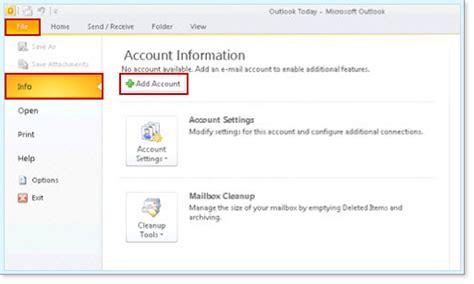 Setup Yahoo E-mail In Microsoft Outlook 2010