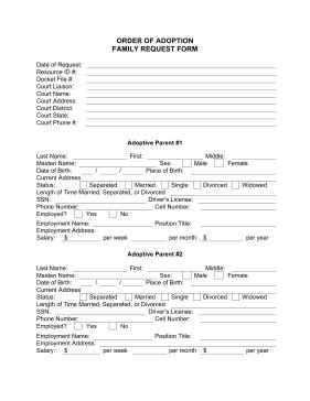 NEW ADOPTION FORM FOR COURT
