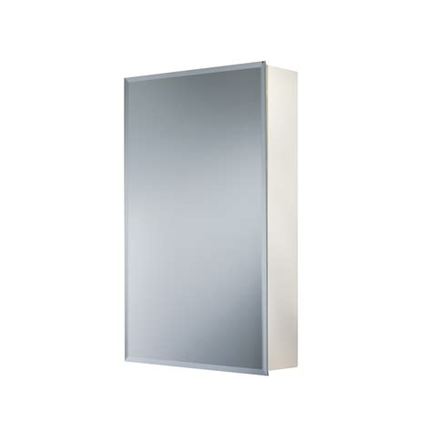 surface mount medicine cabinet lowes shop broan topsider 16 in x 26 in frameless metal surface