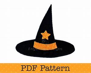 paper witch hat template - witches hat applique template pdf template halloween