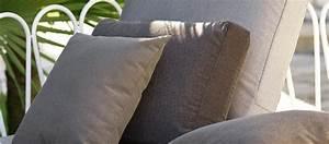 Cojín respaldo sillón exterior tela acrílica 100% a medida Cojines de Exterior
