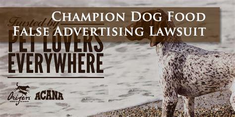 champion dog food lawsuit investigation audet partners