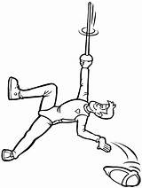Coloring Pages Fencing Sports Mountain Gymnastics Climber Clipart Advertisement sketch template