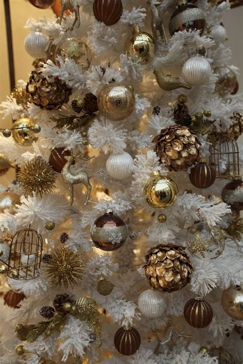 brown and gold christmas decorations 33 chic white christmas tree decor ideas digsdigs