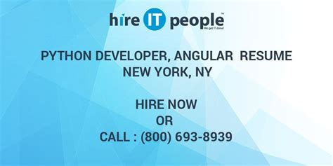 python developer angular resume  york ny hire
