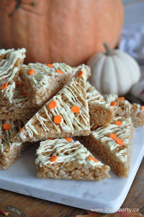 desserts to make with rice krispies how to make pumpkin spice rice krispie treats